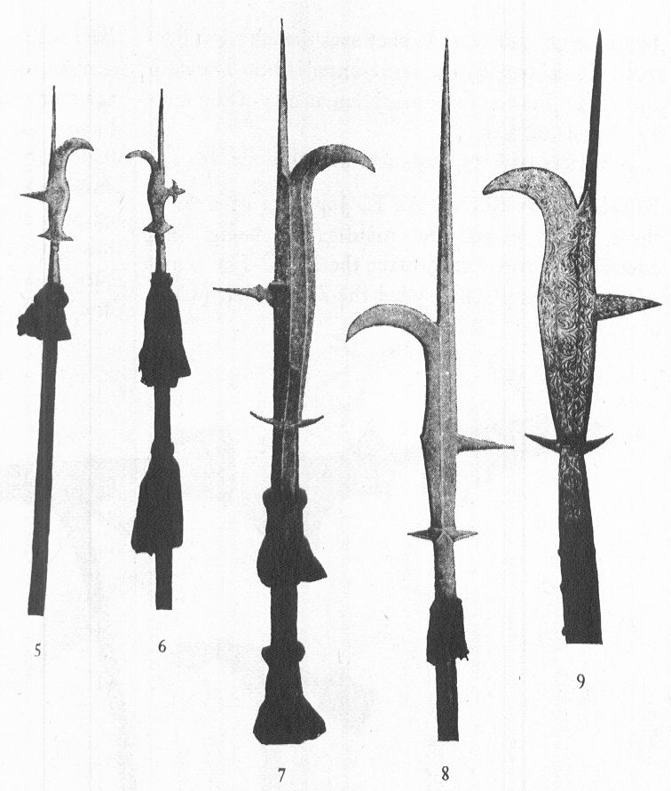 The billhook is the one on the far right