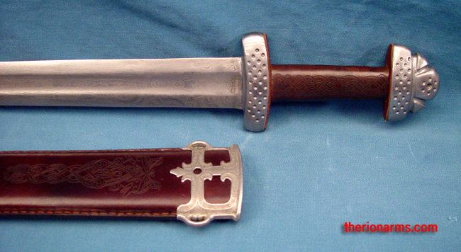TherionArms Trondheim Patternwelded Viking Sword Extraordinary Pattern Welded Sword