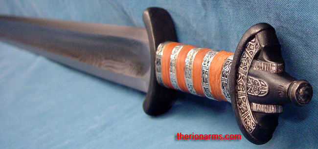 TherionArms Patternwelded Saxon Sword Stunning Pattern Welded Steel