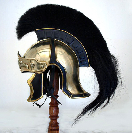 Therionarms Roman Officer S Attic Style Helmet Black Crest
