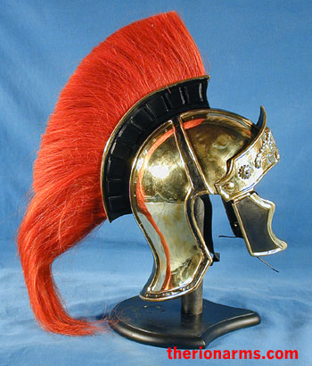 Therionarms Roman Officer S Attic Style Helmet Red Crest